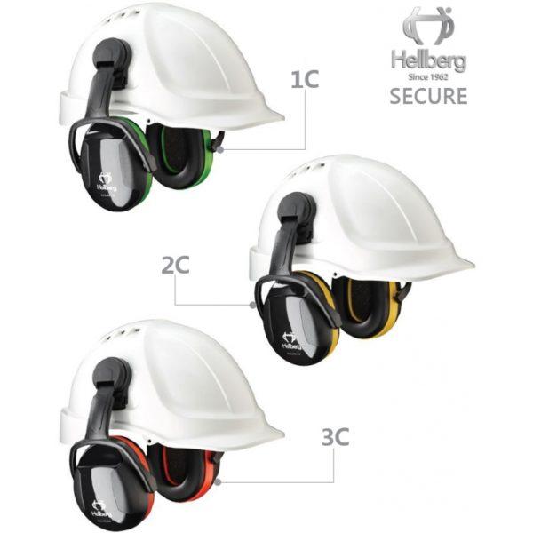 Hellberg Secure 2C nahełmowe