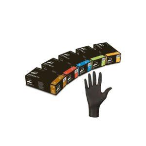 CZARNE nitrylowe bezpudrowe NITRYLEX BLACK S M L XL